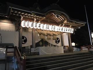 本牧神社 夜