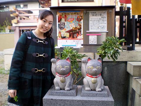 今戸神社にて