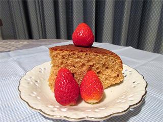 4月きなこケーキカット